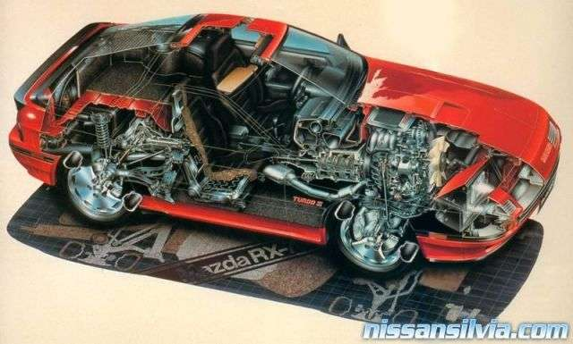 rx7 cut in half